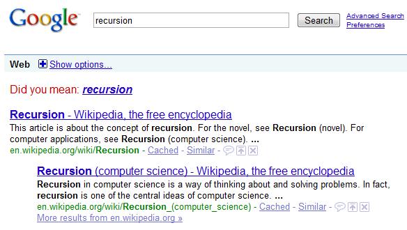 google-recursion